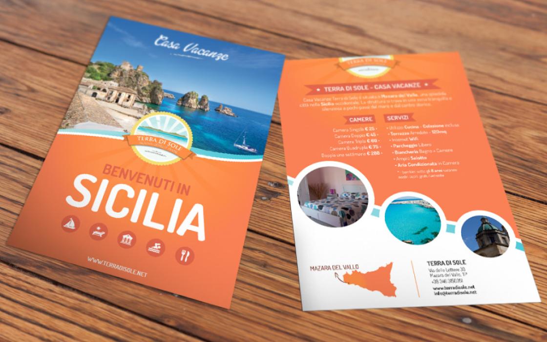 realizzazione grafica flyer casa vacanze