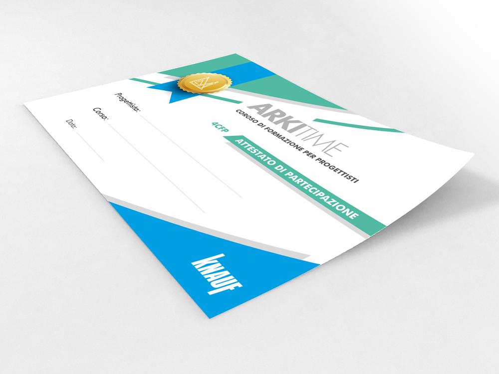 Realizzazione Grafica Certificato Knauf