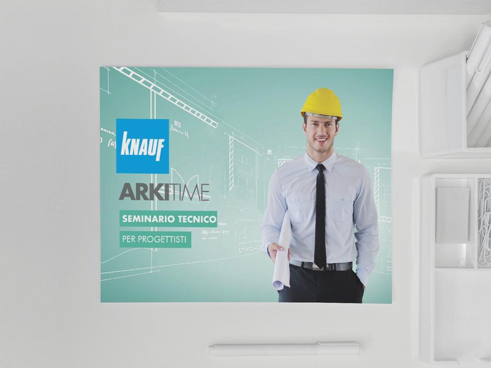 Realizzazione grafica Poster Knauf
