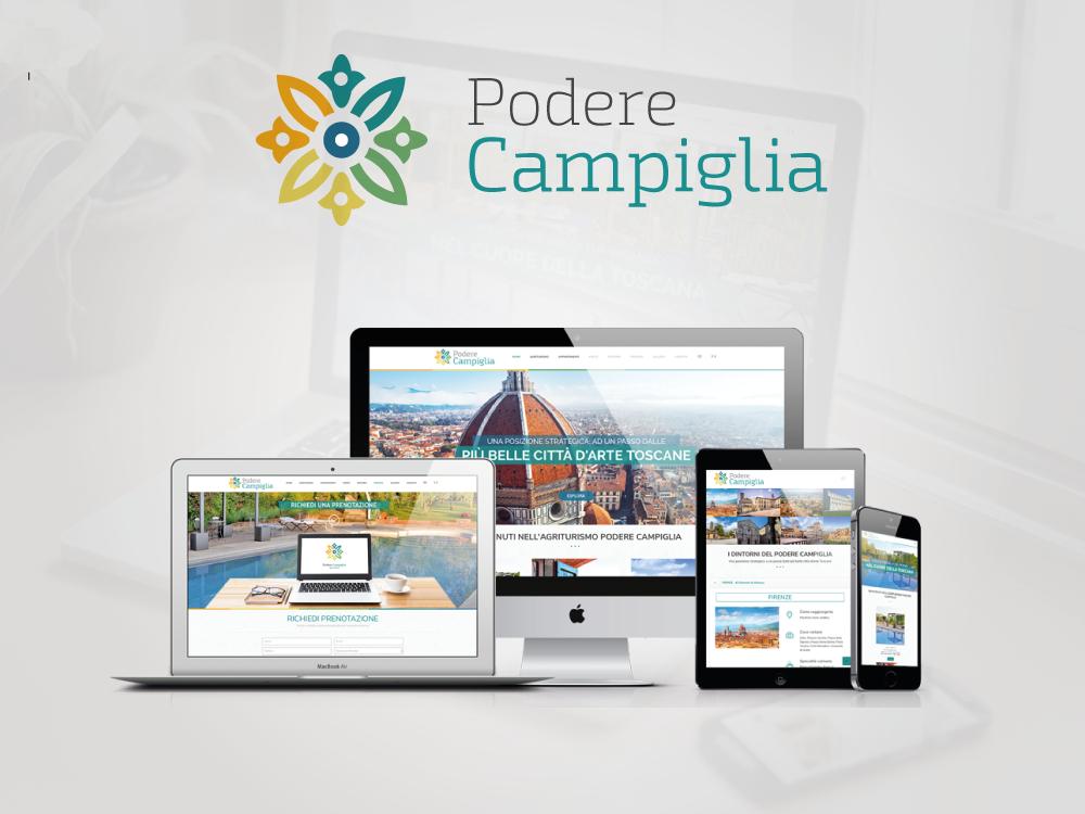 realizzazione sito internet responsive design agriturismo podere campiglia