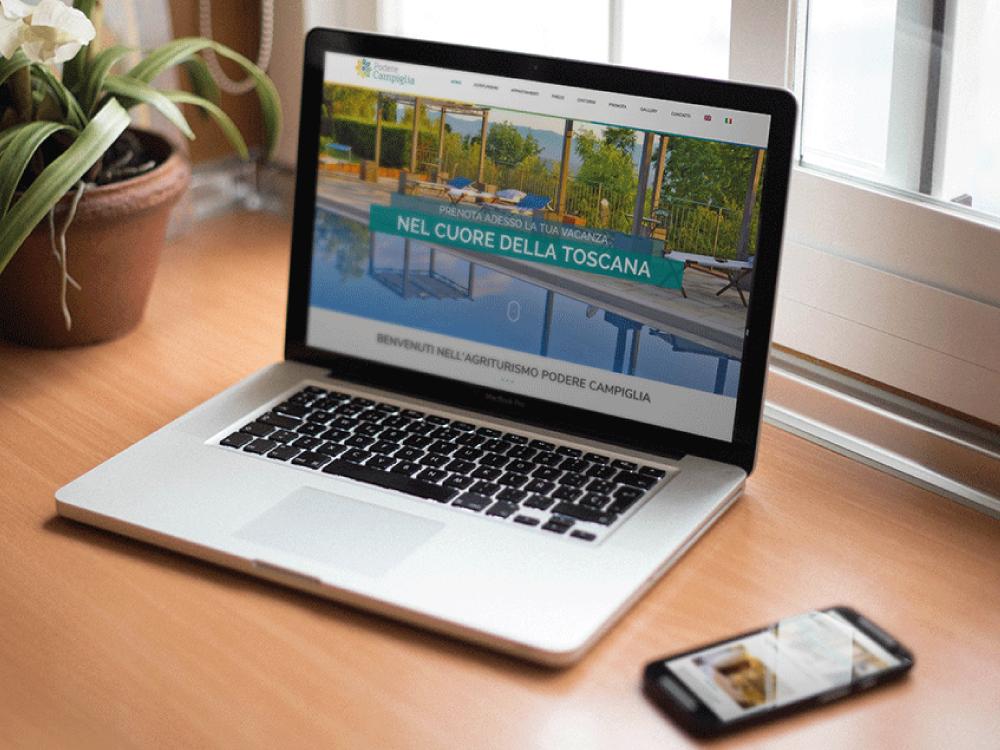 realizzazione sito internet albergo podere campiglia