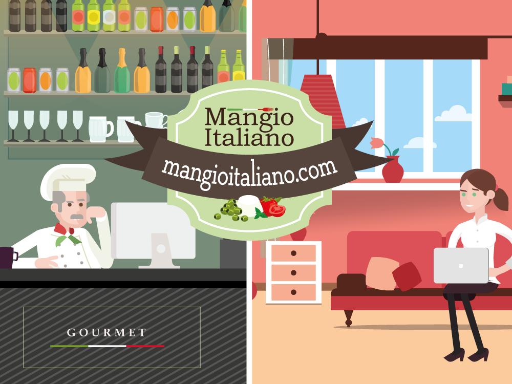 realizzazione video animazione grafica Mangio Italiano