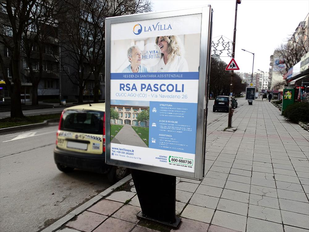 Realizzazione Cartellone stradale Firenze La Villa