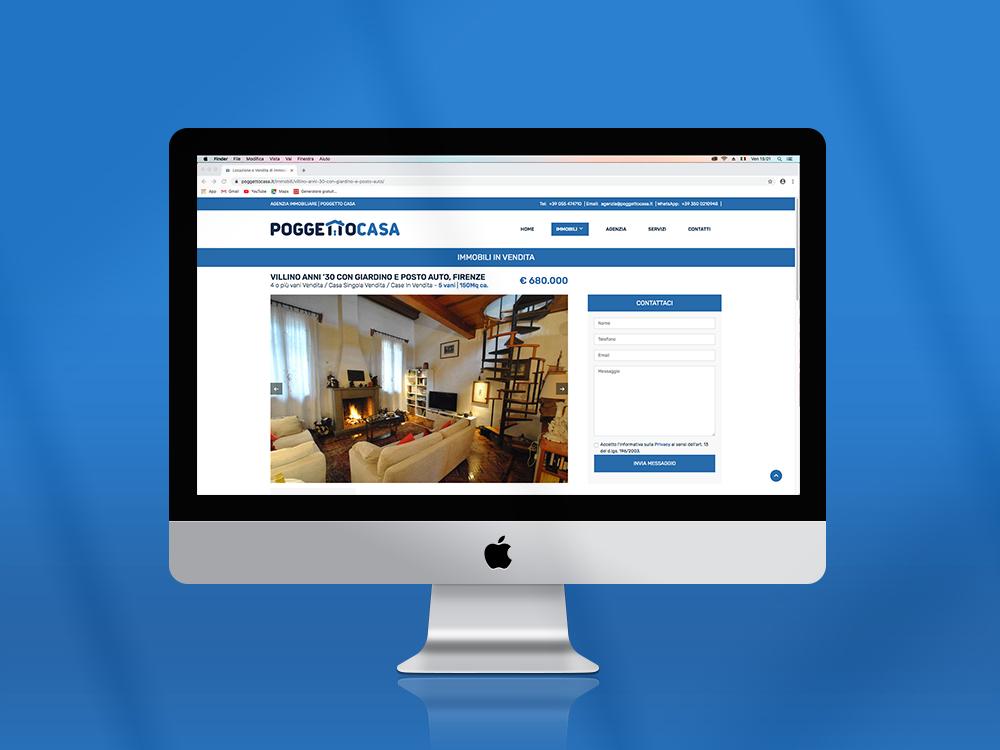 Mockup sito Poggetto Casa Giba Comunicazione